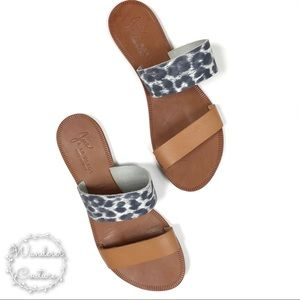 Joie Sable Double Strap Animal Print Sandals